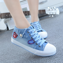 Free Shipping New 2016 Top Sale High Quality Design Fashion Washing Denim Canvas for Women Jeans Canvas Shoes 5 Colors Size35-40