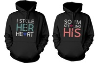 Romantic Matching Couple Hoodies Stealing Hearts Couple Sweatshirt Set For Men Women Custom Logo Euro Size