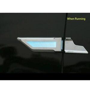 Image 4 - EANOP 자동차 범용 led 라이트 3in1 12V 자동 펜더 램프 러닝 턴 신호 주차 라이트 블루/옐로우/화이트 컬러