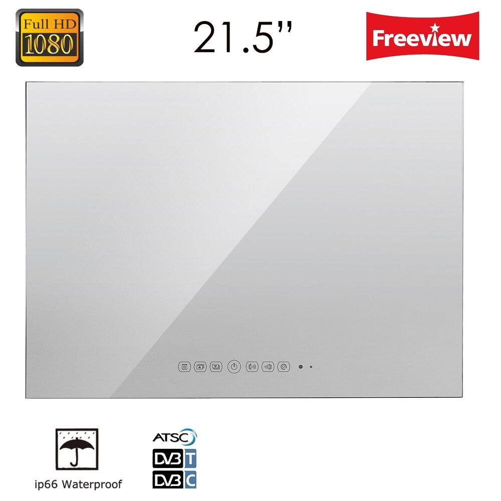 Souria 21.5inch Full HD 1080P Waterproof Vanishing Glass Mirror LED TV for Bathroom High Reflective Mirror TV