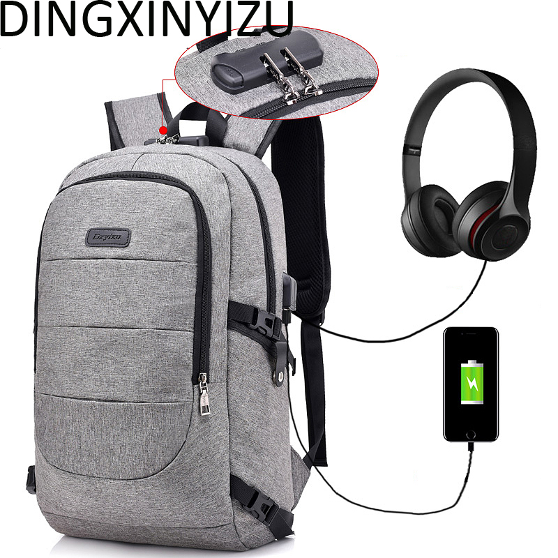 DINGXINYIZU Men Backpack Anti-theft Multifunctional Casual Laptop Backpacks USB Charge Travel Bags Women School Backpack 5006 sopamey usb charge men anti theft travel backpack 16 inch laptop backpacks for male waterproof school backpacks bags wholesale