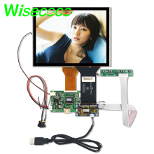 Hight qulity 8 inch lcd for car dvd projection AT080TN52 v.1 LCD screen 800x600 capacitive touch panel HDMI ttl 50pin board