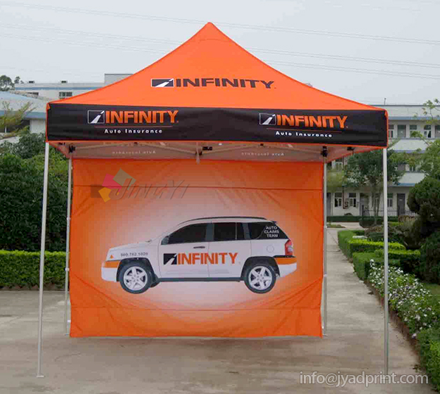 3X3 POP up Tent Frame + Roof + A full Wall + Wheel Oxford Bag (with full color dye sublimation printing) danchel gazeble sliver steel frame folding tent size 2x2 2x3 3x3 3x4 5 3x6 color blue and red