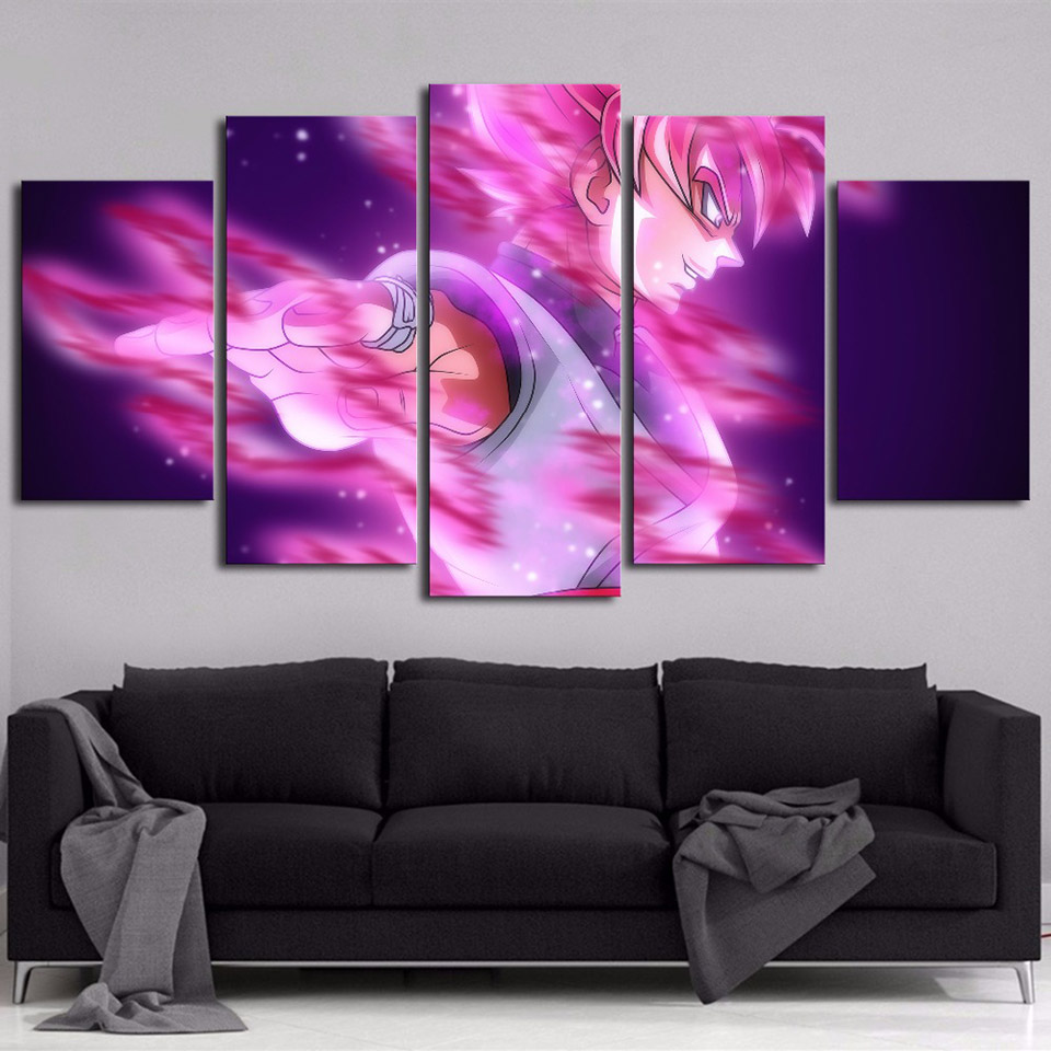 Posters Picture On Canvas Wall Art Home Frame Living Room 5 Panel Anime Naruto Modular Decoration HD Printed Modern Painting(China)