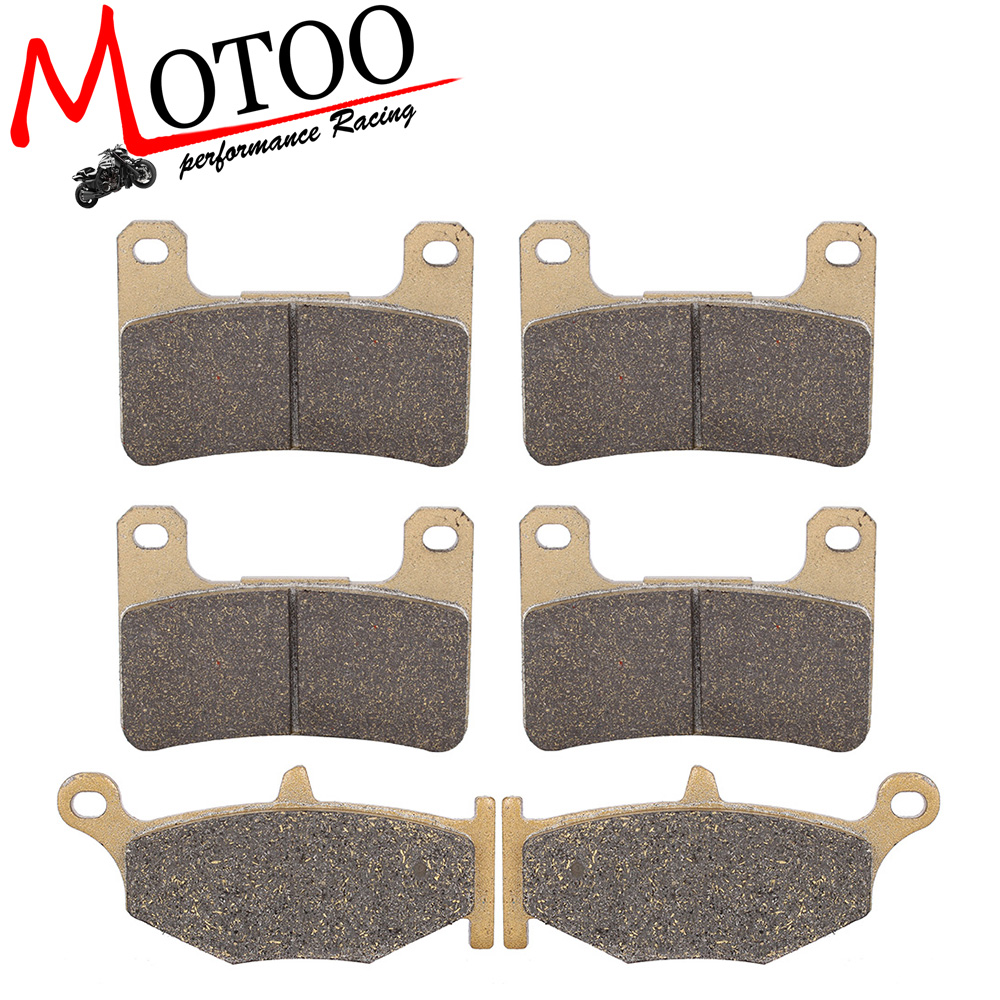 Motoo - Motorcycle Front and Rear Brake Pads For SUZUKI GSXR600/750 GSX-R 2006-2010 motorcycle front and rear brake pads for suzuki gsx 600 gscx600 f katana 1998 2006 black brake disc pad