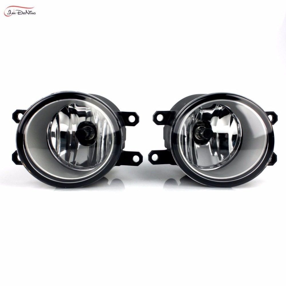 JanDeNing Car Fog Lights For Toyota Auris 2010 Clear Front Fog Lamp Cover Trim Replace Assembly kit (one Pair) car fog lights lamp for mitsubishi triton 2 door 2009 on clear lens pair set wiring kit fog light set free shipping