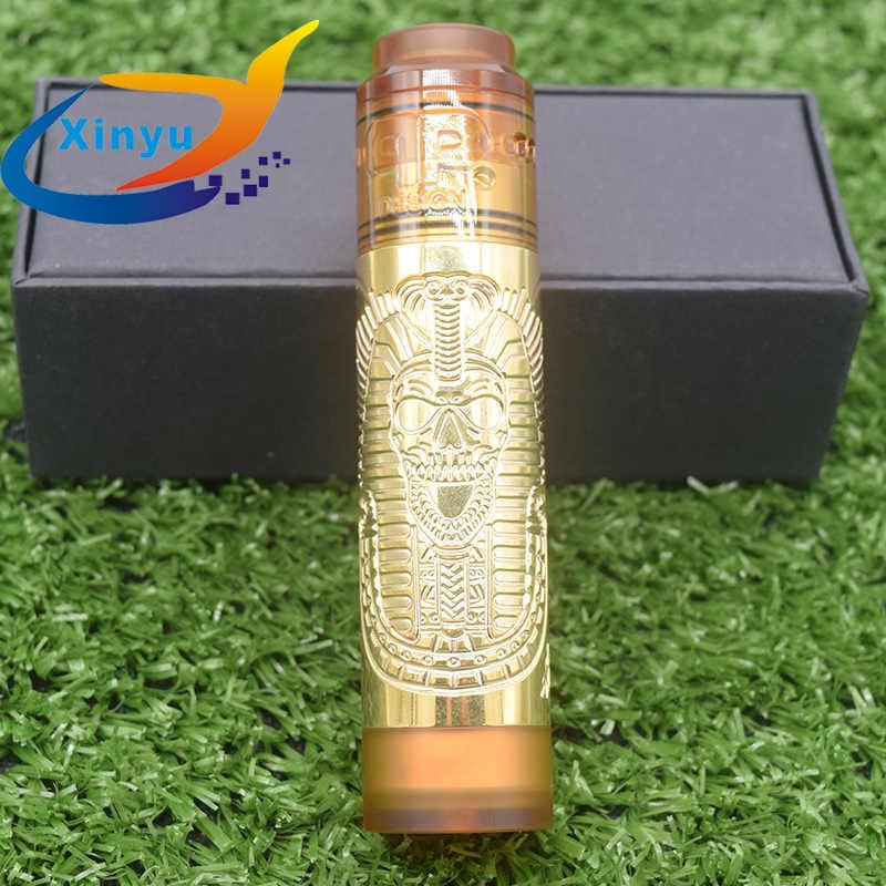 2019 new Pharaoh Mech Mod Slim Piece with QP KALI RDA 18650 Battery 26mm diamater Mechanical Vaporizer Slam Piece Vape Pen Mod