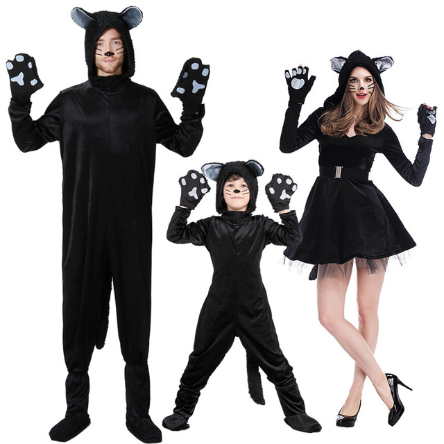 Black Cat Costume Little Kitten Cosplay Costume Animal Fancy Dress Jumpsuit with Headwear Paws Toddlers For  sc 1 st  AliExpress.com & Black Cat Costume Little Kitten Cosplay Costume Animal Fancy Dress ...
