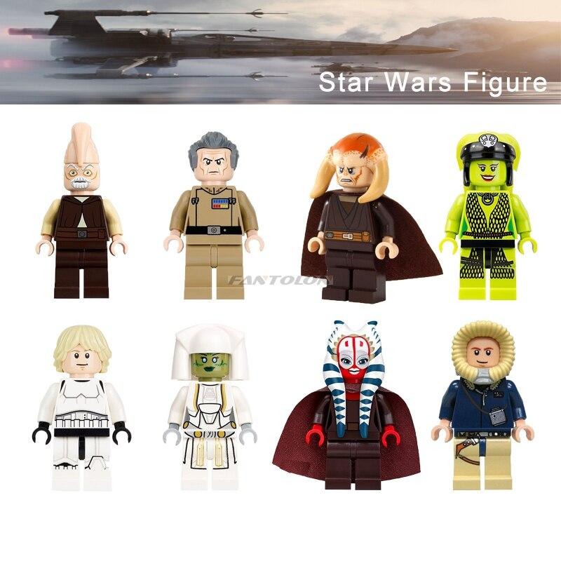 1PC Legoelys Star Wars Oola Shaak Ti Luke Figure Saesee Tiin Jedi Consular Han Solo Ki Adi Mundi Starwars Building Block Pg8051