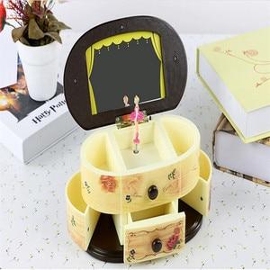 Image 3 - สีชมพูนักเต้นบัลเล่ต์ที่สวยงามตุ๊กตาตุ๊กตาเพลงตุ๊กตากล่องเครื่องประดับ Make Up กล่องแบบพกพาสำหรับเด็กผู้หญิงเด็กของขวัญ WS157