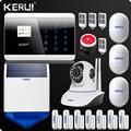 KR-8218G GSM PSTN двойная чистая беспроводная домашняя сигнализация Система безопасности Android IOS приложение сенсорная клавиатура английский/русск...
