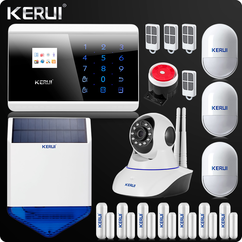 KR-8218G GSM PSTN Dual Net Wireless Home Alarm System Security Android IOS APP Touch keypad English/Russian/French/Spanish Voice