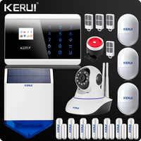 KR-8218G GSM Pstn ワイヤレスホーム警報システムセキュリティ Android IOS アプリタッチパッド英語/ロシア/フランス /スペイン語音声