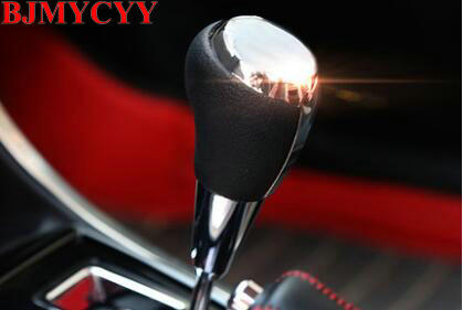 BJMYCYY 1 PCS Car styling new ABS gear stalls sequins cover case stickers For TOYOTA Corolla 2014 2015