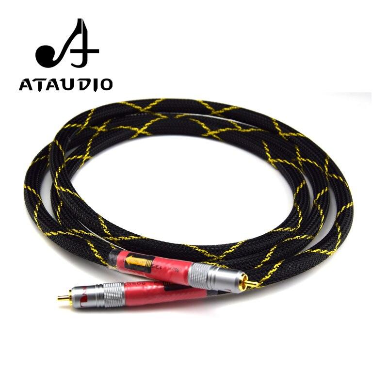 ATAUDIO 8N OFC Ortofon Hifi Coaxial Cable High Quality DAC 75ohm hifi Digital RCA Cable