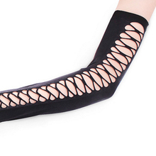 Women's Lace Up Style Long Gloves