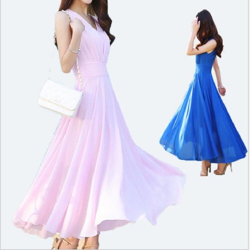 Ropa 2017 summer dress nuevas mujeres de gran tamaño beach dress delgado tempera