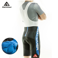Racmmer 2020 homens ciclismo bib shorts verão coolmax 5d gel almofada bicicleta bib calças mtb ropa ciclismo umidade wicking calças # BD 03|Macaquinho p/ ciclismo|Esporte e Lazer -