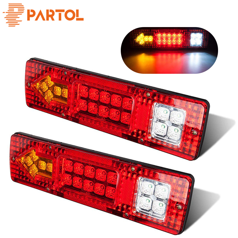 """Red LED Clearance Light with wire and bracket 1/""""x4/"""""""