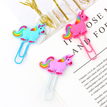 3Pcs/lot Creative Unicorn Bookmark Cute Kawaii Book Markers Paper Clip For Kids Gift Korean Stationery Student 30pcs lot cute kawaii paper bookmark vintage japanese style book marks for kids school materials