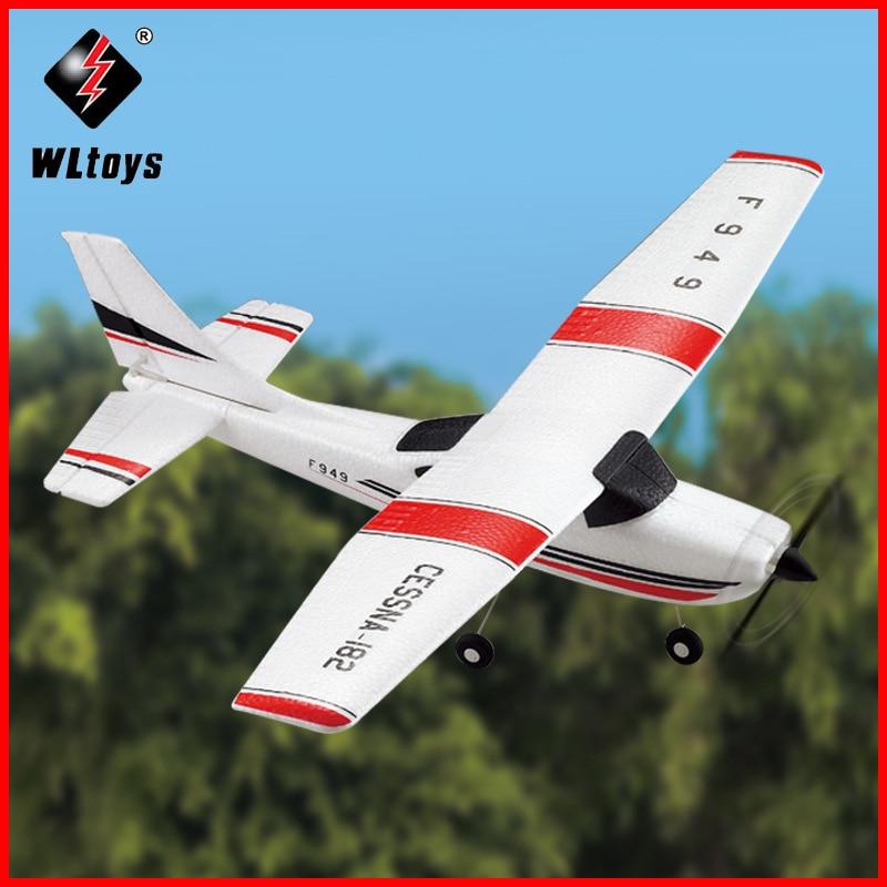 2019 WLtoys F949 Sky King 2.4G RC Avião 3CH Fixo-asa RTF Avião de Rádio controle Remoto Avião RC asa fixa F949 WL zangão