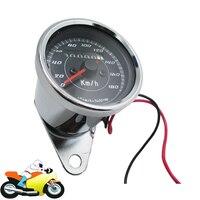 Chrome Motorcycle Scooter ATV Speedometer Odometer Gauge 0 180km H