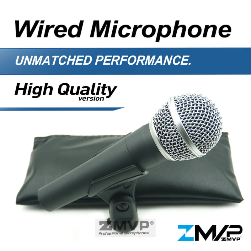 все цены на Free Shipping! High Quality Version S 58 LC Wired Vocal Karaoke Handheld Dynamic 58LC Microphone Microfone microfono Mic онлайн