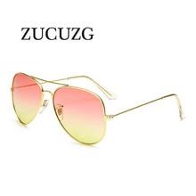 2017 Retro Pilot Sunglasses Women Men brand designer Gradient lens sunglasses female Vintage Night vision Eyewear oculos de sol