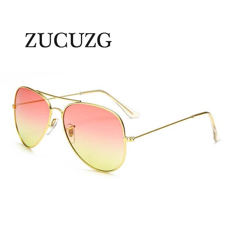 2020 Retro Pilot Sunglasses Women Men brand designer Gradient lens - Apparel Accessories