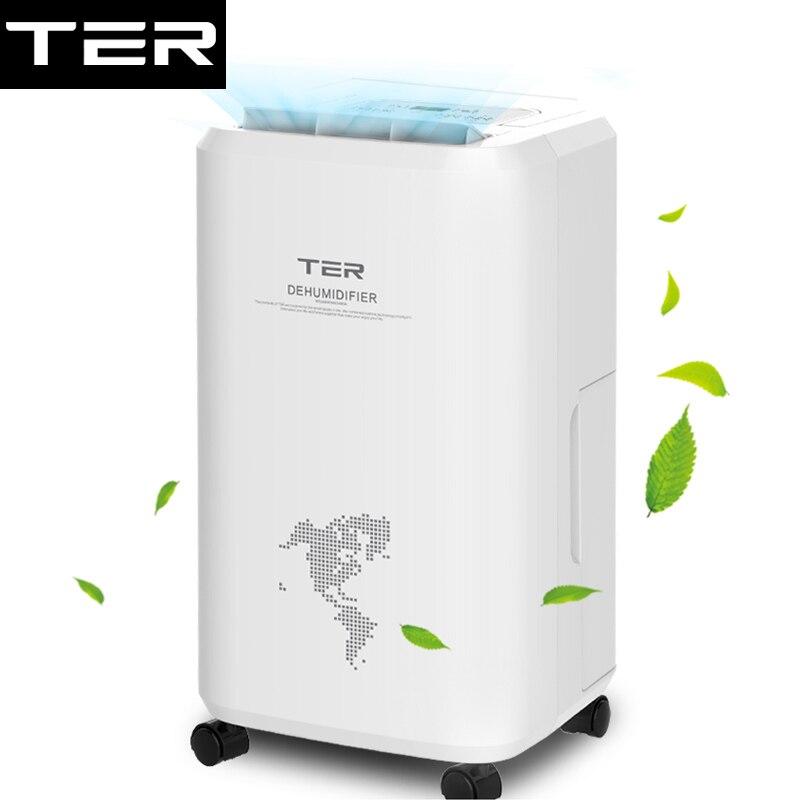 Deshumidificador silencioso dormitorio sótano alta potencia secador de aire 10L/D sincronización ropa seca tanque de agua grande rueda Universal