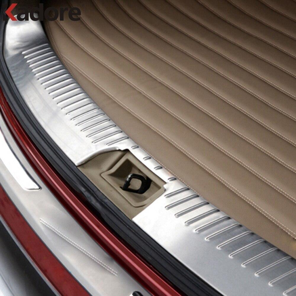 Pour Nissan Qashqai 2007-2010 2011 2012 en acier inoxydable intérieur pare-chocs arrière protège-garniture arrière porte seuil plaque protection protection
