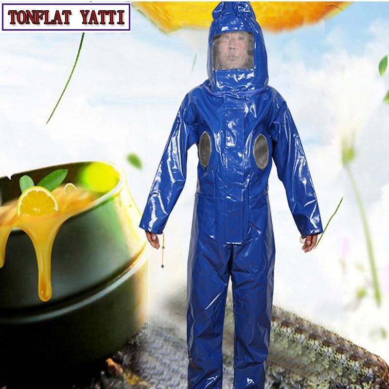 養蜂スーツ取り外し可能帽子抗蜂保護安全カバーオールスモック機器用品養蜂ジャケットベールセット  グループ上の セキュリティ & プロテクション からの 安全服 の中 1
