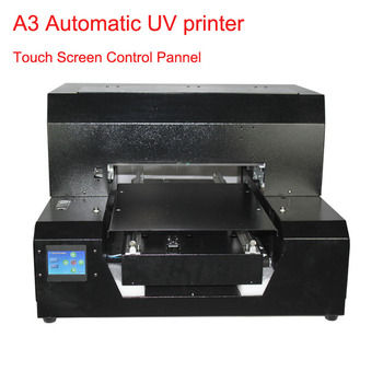 2019  Automatic  Inkjet UV A3 size flatbed Printer  Height automatic adjustment UV printer for phone case , acylic, wooden etc