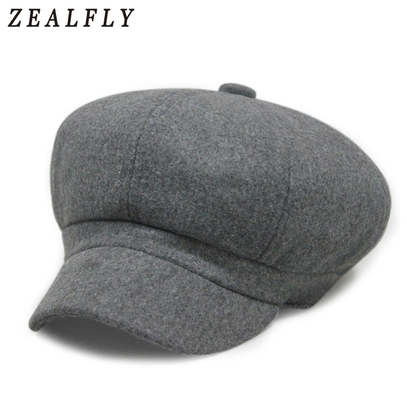 4df6ef33283af Detail Feedback Questions about Top Fashion Solid Newsboy Caps Men And  Women Warm Polyester Octagonal Hats For Autumn And Winter Unisex Casual  Beret Toucas ...