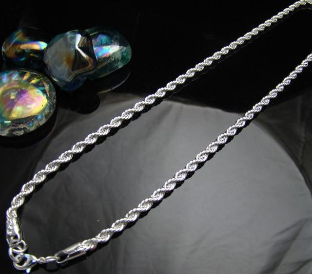 Cn7 4mm rope chain men necklacewholesale lots fashion jewelry 925 cn7 4mm rope chain men necklacewholesale lots fashion jewelry 925 sterling silver jewelry necklaces mozeypictures Images