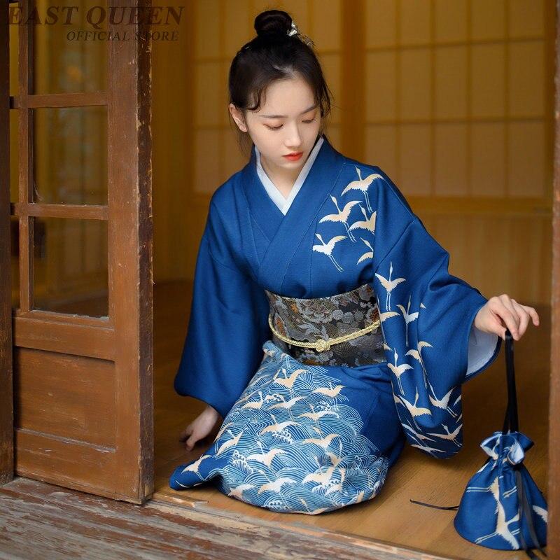 Kimono japonais robe traditionnelle cosplay femme yukata femmes haori japon costume de geisha obi japon asie robe KK2248