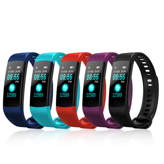 Y5 Smart Band Watch Color Screen Wristband Heart Rate Activity Fitness tracker Smart Electronics Bracelet VS  Miband 2 4