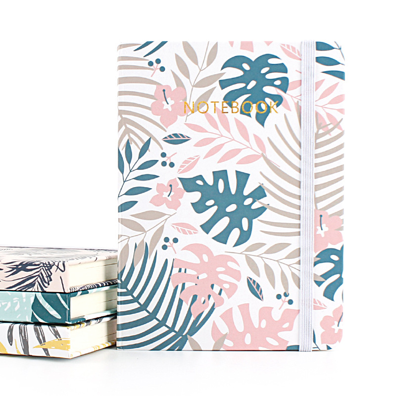 A7 Plam Hardcover Ruled Notebook Forest Leaves  Art Bullet Journal Notebook Stationery Creative SketchBook Bujo Stationery