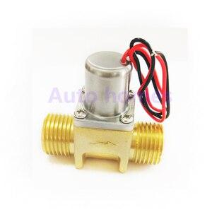 Image 3 - Latão G1/2 polegada miniatura louças sanitárias Indução biestável pulso válvula solenóide de controle da água, válvula de poupança de energia