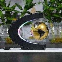 Electronic Magnetic Levitation Floating Globe Antigravity LED Light Globe World Map Christmas Gift Home Decor Drop