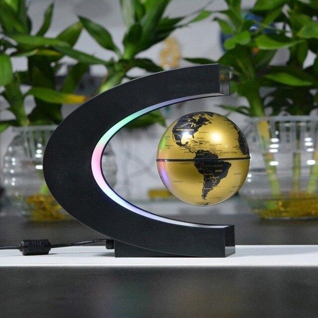 Electronic magnetic levitation floating globe antigravity led light electronic magnetic levitation floating globe antigravity led light globe world map christmas gift home decor drop gumiabroncs Images