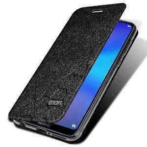 Image 5 - Flip Dành Cho Huawei P20 Lite Ốp Lưng Đứng Bao Da Huawei P20 Lite Bao Da PU Mofi Cao Cấp Silicone Capa Lấp Lánh p20 Ốp Lưng Điện Thoại