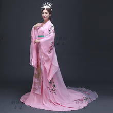 Elegent Traditional dress female costume Ancient China Princess Outfit hanfu Costume embroidered Pink Chinese Charming woman