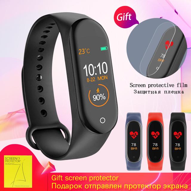 Smart Watch men M4 Fitness Bracelet Bluetooth Waterproof Heart rate Monitor Smart Watch Women Fitness Tracker SmartWatch