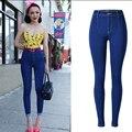 Olrain CALIENTE Mujeres Atractivas de Mezclilla Pantalones Pitillo de Talle Alto Stretch Jeans Pantalones Lápiz Delgado