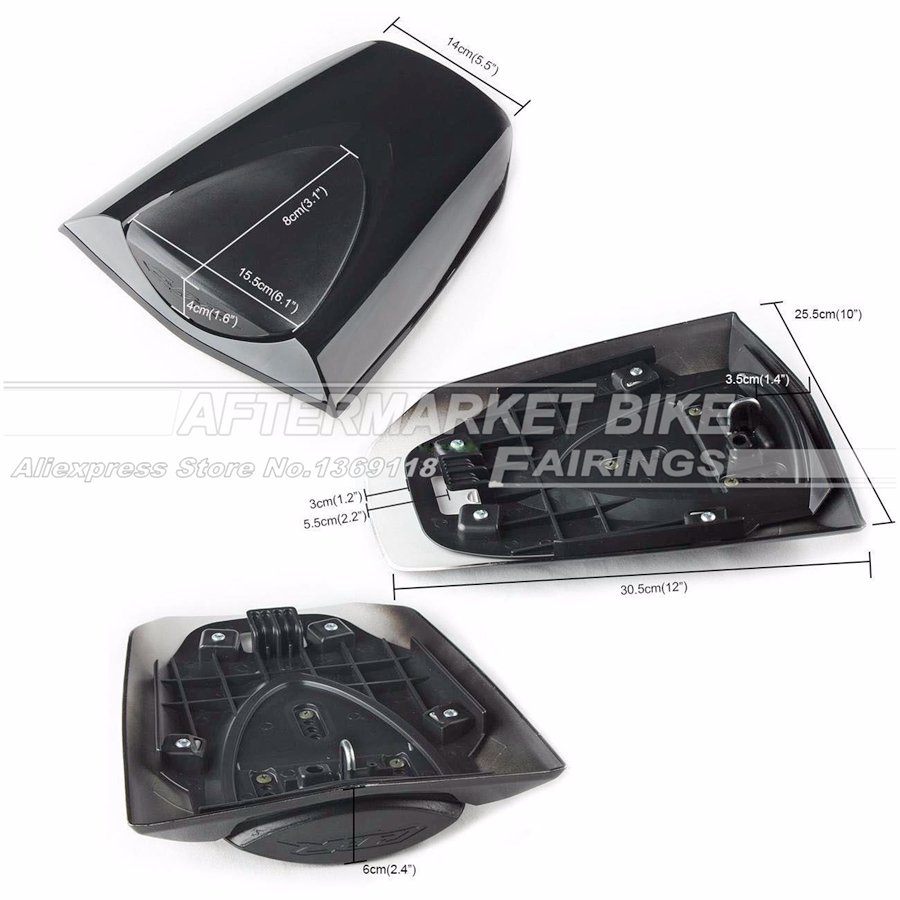 Motorcycle Rear Cowl For HONDA CBR600RR 2007 2008 2009 2010 2011 2012 F5 Motorbike ABS Plastic Seat Cover
