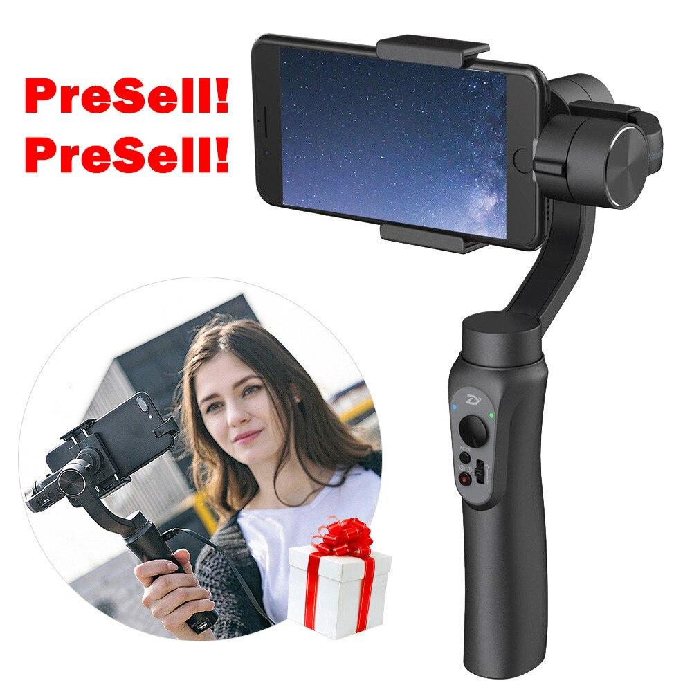 Pre-venta suave q de mano steadicam estabilizador de vídeo del teléfono bluetoot