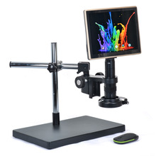 On sale HDMI USB Microscope Camera Android System 5.0MP Touch Screen Tablet Digital Microscope Camera+180X C-mount Lens+Big Table Stand