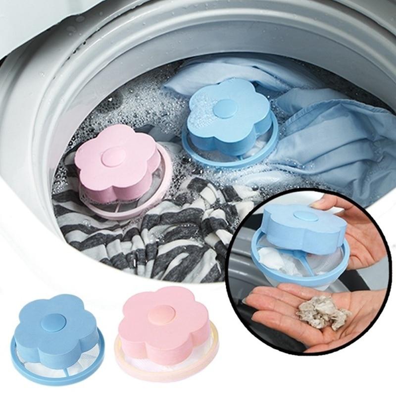 1PCS Washing Machine Laundry Bag Home Floating Lint Hair Catcher Mesh Pouches