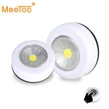 COB LED אלחוטי סטיק ברז ארון בגדים Touch אור מנורת 3W סוללה מופעל מטבח ארון ארון לדחוף ברז בית מקל על מנורת Blub